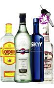 007马天尼鸡尾酒 马天尼白 martini +蓝天伏特加+哥顿金酒+加送40°美国麦克美伏特加750ml  甑品酒业