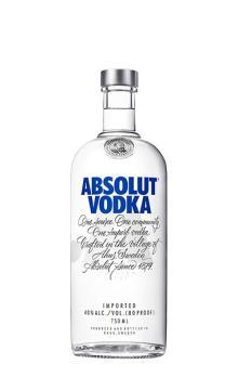 绝洋酒 瑞典伏特加 Absolut Vodka 对伏特加原味 750ml