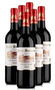 勃朗经典干红葡萄酒-6支装
