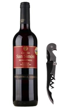 西莫干红葡萄酒【送酒刀】