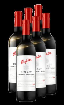 澳洲奔富BIN407赤霞珠紅葡萄酒 奔富酒園 澳大利亞進口紅酒 750mlx6 整箱紅酒