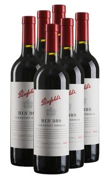 奔富389赤霞珠西拉干红葡萄酒整箱6支装(奔富酒园出品Bin389赤霞珠西拉)