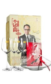 小团圆家庭品酒套装(4支水晶红酒杯+1个醒酒器+1把海马刀+1片面膜+1个礼盒)