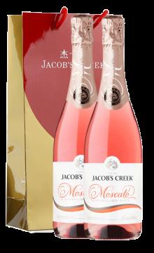 杰卡斯莫斯卡托桃红气泡葡萄酒-2支装