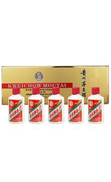 贵州茅台酒(金色条盒装) 53度 50ml*5瓶