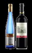 德国爱薇尔甜白葡萄酒+复活传奇干红葡萄酒-双支组合